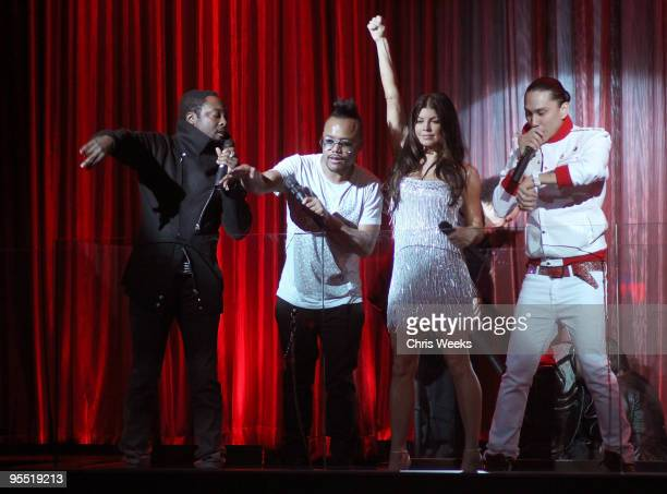 WillIAm AplDeAp Fergie and Taboo of The Black Eyed Peas attend New Year's Eve at LAX Nightclub on December 31 2009 in Las Vegas Nevada