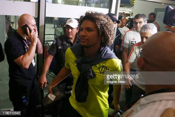 William Arao of Flamengo team arrives in Rio after playing the FIFA Club World Cup Qatar 2019 Final Against Liverpool on December 22 2019 in Rio de...