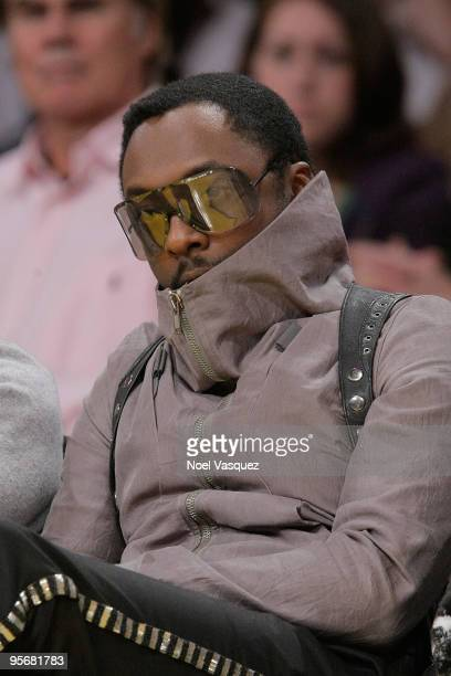 WillIAm attends a game between the Milwaukee Bucks and the Los Angeles Lakers at Staples Center on January on January 10 2010 in Los Angeles...