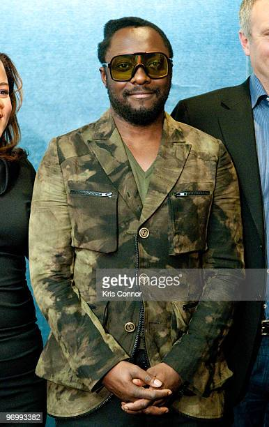 Will.i.am attends a news conference to promote green jobs at the National Press Club on February 23, 2010 in Washington, DC.