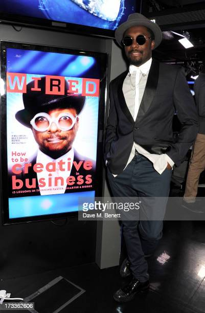 Will.i.am attends a party which he hosted with David Rowan to celebrate their co-curation of the August issue of WIRED and preview Tania Bryer's...