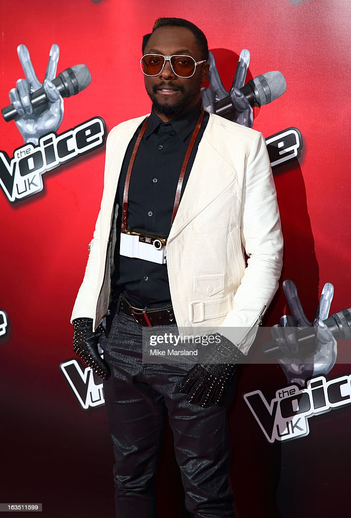 Will.i.am attends a photocall to launch the second series of The Voice at Soho Hotel on March 11, 2013 in London, England.