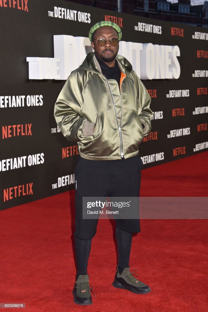 will.i.am attends a special screening of 'The Defiant Ones' at the Ritzy Picturehouse Brixton on March 15, 2018 in London, United Kingdom.