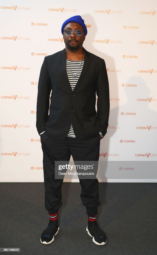 Will.i.am attends Chivas Venture 2018 - Chivas Regal's global competition that gives away $1 million in no-strings funding every year to the world's most promising social startups on May 24, 2018 at TNW Conference in Amsterdam, Netherlands.