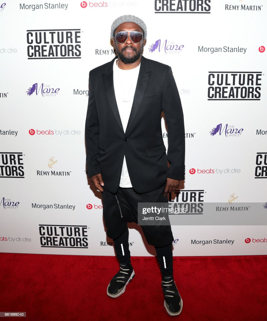 Will.i.am attends Culture Creators Leaders and Innovators Awards Brunch 2018 at The Beverly Hilton on June 22, 2018 in Beverly Hills, California.