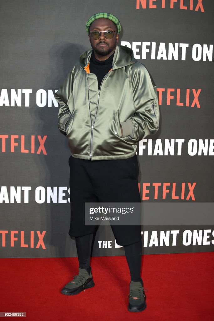 will.i.am attends 'The Defiant Ones' special screening on March 15, 2018 in London, United Kingdom.