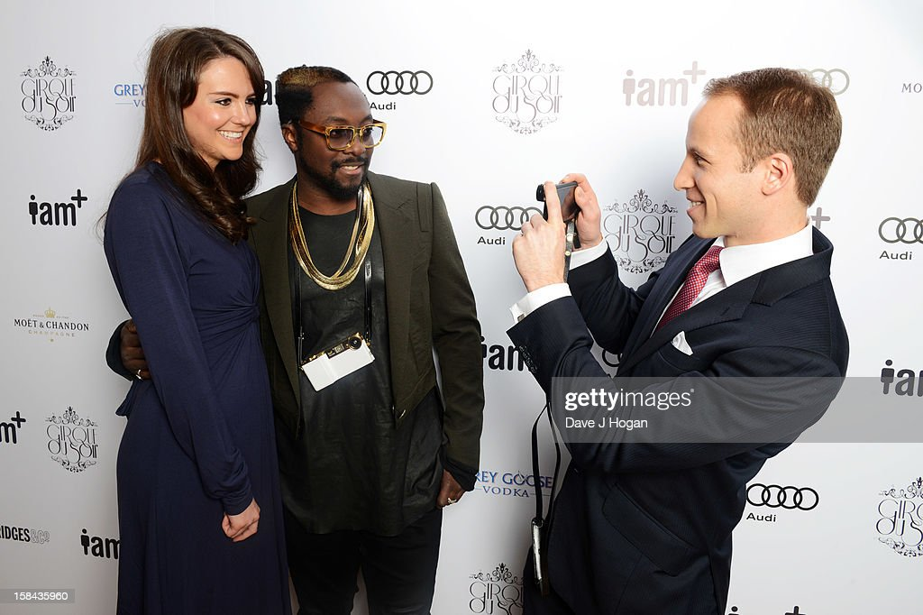 Will.i.am attends the I.AM+ foto.sosho Launch Party in association with Cirque Du Soir at One Marylebone on December 16, 2012 in London, England.