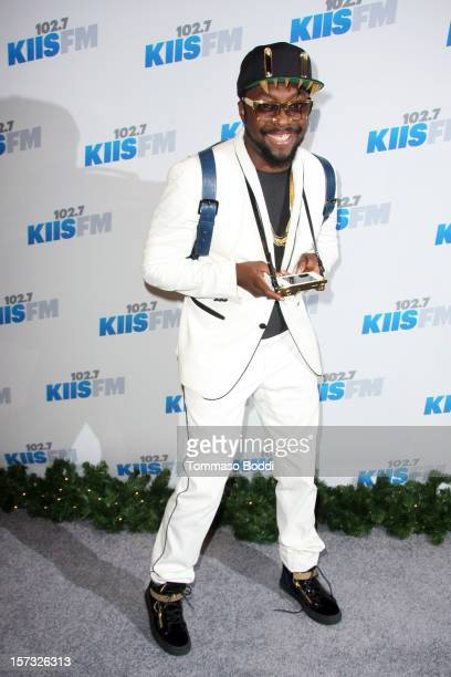 William attends the KIIS FM's Jingle Ball 2012 held at the Nokia Theatre LA Live on December 1 2012 in Los Angeles California