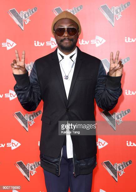 william attends The Voice UK Launch photocall at Ham Yard Hotel on January 3 2018 in London England