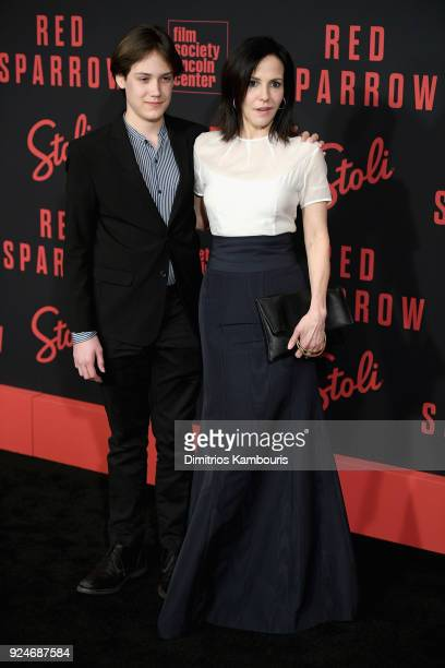 William Atticus Crudup and MaryLouise Parker attend the 'Red Sparrow' New York Premiere at Alice Tully Hall at Lincoln Center on February 26 2018 in...