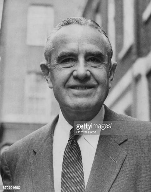 William Averell Harriman US President Johnson's Special Envoy arrives at 10 Downing Street in London for talks with British Prime Minister Harold...
