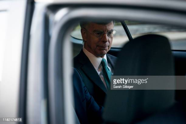 William B Taylor Jr acting US ambassador to Ukraine exits the Longworth House Office Building and gets into a cab after testifying in the first...