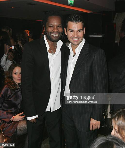 William Balde and Antoine Chevanne attend the Black Legend opening party on October 29 2009 in MonteCarlo Monaco