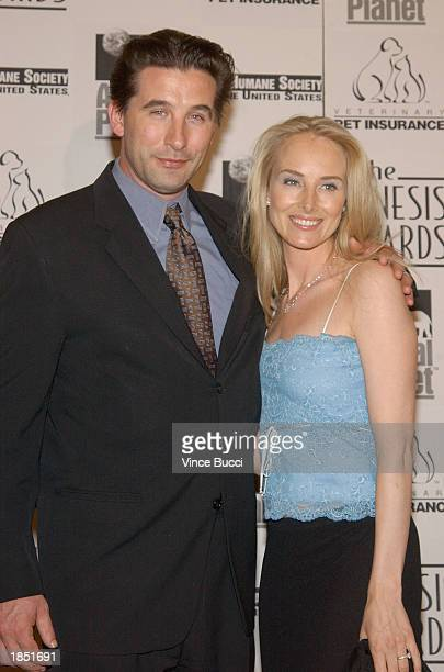 William Baldwin and wife Chynna PhillipsBaldwin pose during the 17th Annual Genesis Awards at the Beverly Hilton Hotel on March 15 2003 in Beverly...