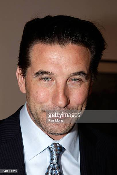 William Baldwin poses at the Creative Coalition's Students Inaugural Program at the Cole Field House at the University of Maryland on January 19 2009...