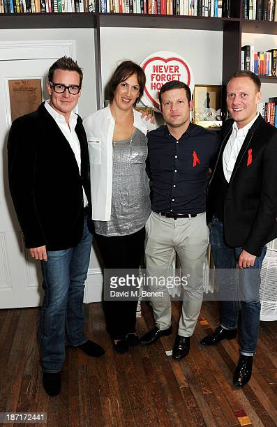 William BanksBlaney Miranda Hart Dermot O'Leary and Antony Cotton attend a 'Supper Club' dinner hosted by Dermot O'Leary for the Terrence Higgins...