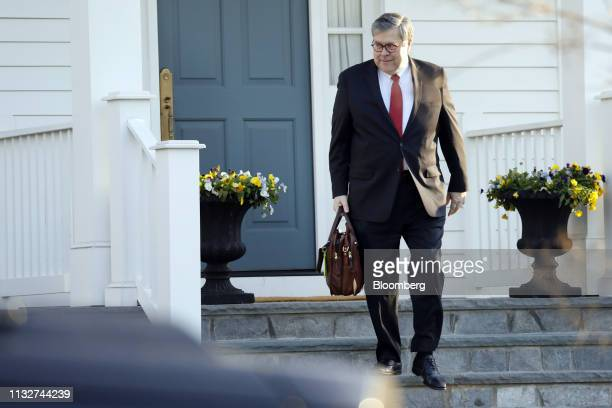 William Barr US attorney general leaves his home in McLean Virginia US on Monday March 25 2019 Barr handed US President Donald Trump the biggest...
