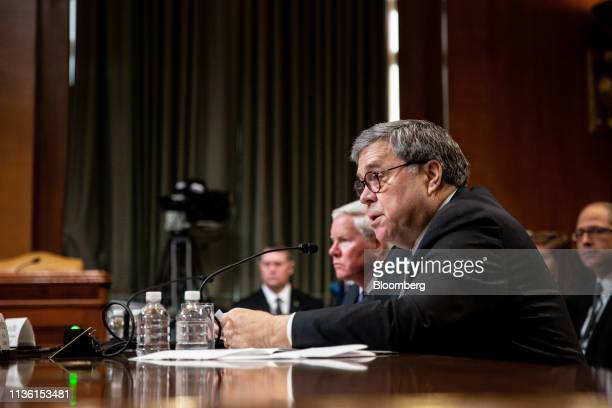 William Barr US attorney general speaks during a House Appropriations Subcommittee hearing in Washington DC US on Wednesday April 10 2019 Barr said...