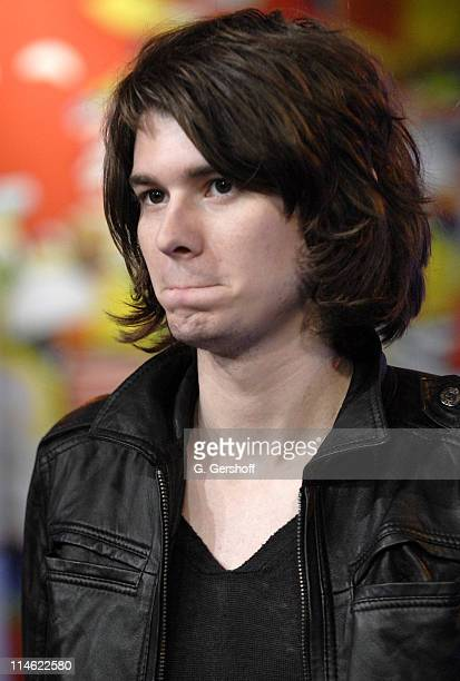William Becket of The Academy Is during Fall Out Boy Paul Wall 44 The Academy Is and Cobra Starship Visit MTV's TRL June 5 2007 at MTV Studios in New...