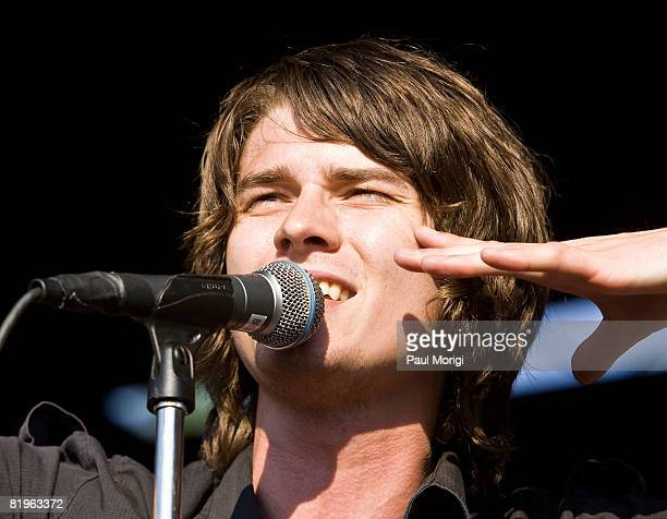 William Beckett of The Academy Is performs at the Vans Warped Tour at the Merriweather Post Pavilion on July 16 2008 in Columbia Maryland