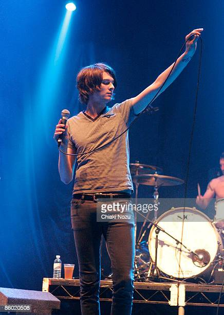William Beckett of The Academy Is performs on stage at the Give It A Name Incoming Tour 2009 at Brixton Academy on April 17 2009 in London England