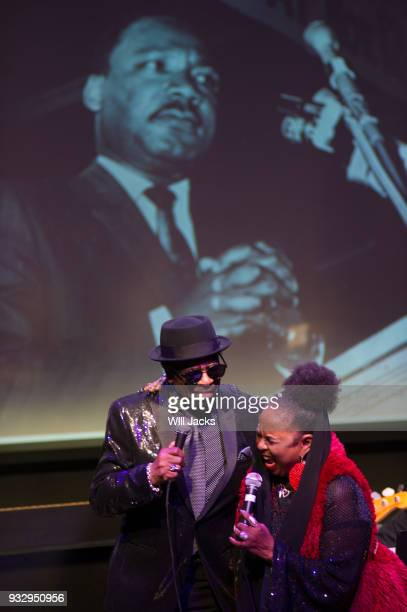 William Bell and Betty Wright perform together at GRAMMY Museum Mississippi on March 16 2018 in Cleveland Mississippi