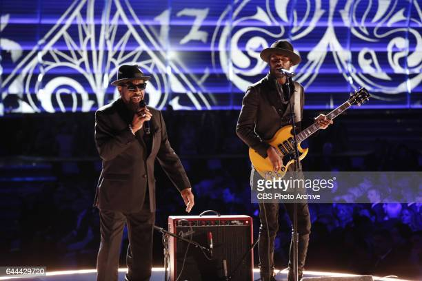 William Bell and Gary Clark Jr perform during THE 59TH ANNUAL GRAMMY AWARDS broadcast live from the STAPLES Center in Los Angeles Sunday Feb 12 on...