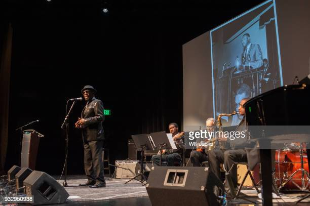 William Bell pays tribute to Dr Martin Luther King at GRAMMY Museum Mississippi on March 16 2018 in Cleveland Mississippi