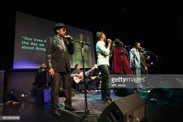 William Bell Travis Greene Betty Wright Bobby Rush and PJ Morton perform at GRAMMY Museum Mississippi on March 16 2018 in Cleveland Mississippi