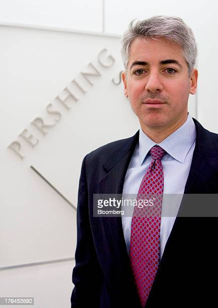 """William """"Bill"""" Ackman, chief executive officer and founder of Pershing Square Capital Management LP, poses for a portrait at Pershing's headquarters..."""