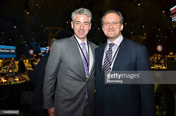 """William """"Bill"""" Ackman, founder and chief executive officer of Pershing Square Capital Management LP, left, and Anthony """"Tony"""" Asnes, head of investor..."""