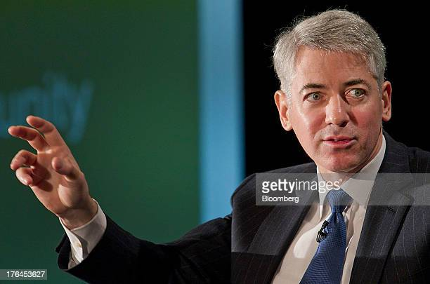 """William """"Bill"""" Ackman, founder and chief executive officer of Pershing Square Capital Management LP, speaks during a Canadian Pacific Railway Ltd...."""
