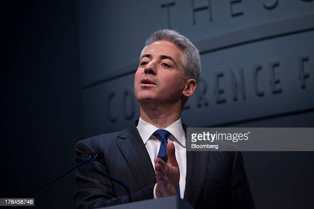 """William """"Bill"""" Ackman, founder and chief executive officer of Pershing Square Capital Management LP, speaks during a presentation in New York, U.S.,..."""