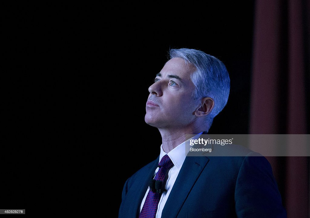 William 'Bill' Ackman, founder and chief executive officer of Pershing Square Capital Management LP, pauses while speaking during an event in New York, U.S., on Tuesday, July 22, 2014. Herbalife Ltd. shares fell the most in three months yesterday after billionaire Ackman vowed to show Enron Corp.-like fraud at the seller of supplements and weight-loss shakes. Photographer: Jin Lee/Bloomberg via Getty Images