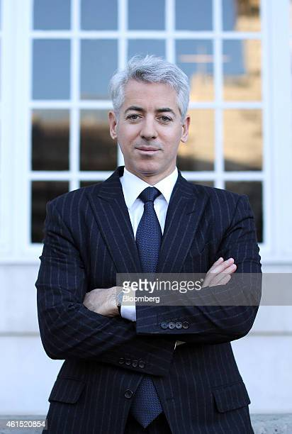 """William """"Bill"""" Ackman, founder and chief executive officer of Pershing Square Capital Management LP, poses for a photograph following a Bloomberg..."""
