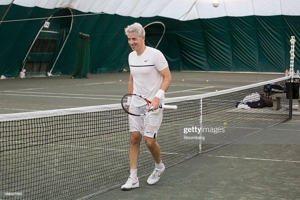 Wall Street Tennis Match At Sportime Randall's Island