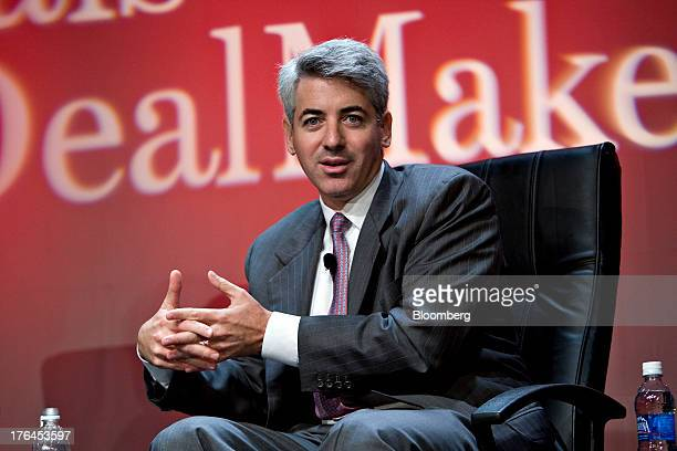 """William """"Bill"""" Ackman, managing member and founder of Pershing Square Capital Management LP, speaks during the Deals and Deal Makers conference in..."""