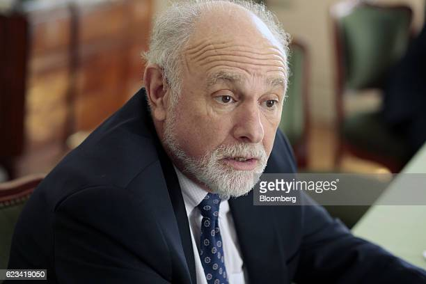 William 'Bill' Baer principal deputy associate attorney general at the US Department of Justice speaks during an interview at Palacio San Martin in...