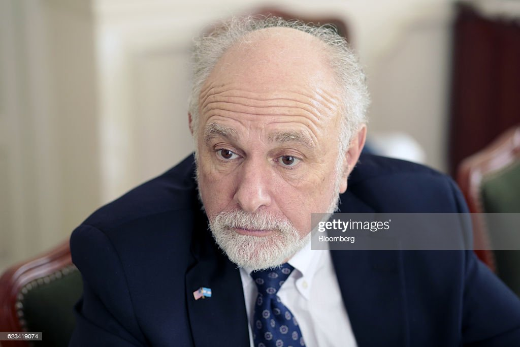 William 'Bill' Baer, principal deputy associate attorney general at the U.S. Department of Justice, listens during an interview at Palacio San Martin in Buenos Aires, Argentina, on Tuesday, Nov. 15, 2016. Baer is visiting Argentina to participate in the Second International Conference on Access to Legal Aid in Criminal Justice Systems. Photographer: Sarah Pabst/Bloomberg via Getty Images