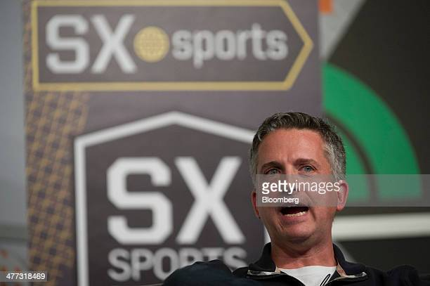 William 'Bill' Simmons editorinchief of Grantlandcom speaks during a panel discussion at the South By Southwest Interactive Festival in Austin Texas...