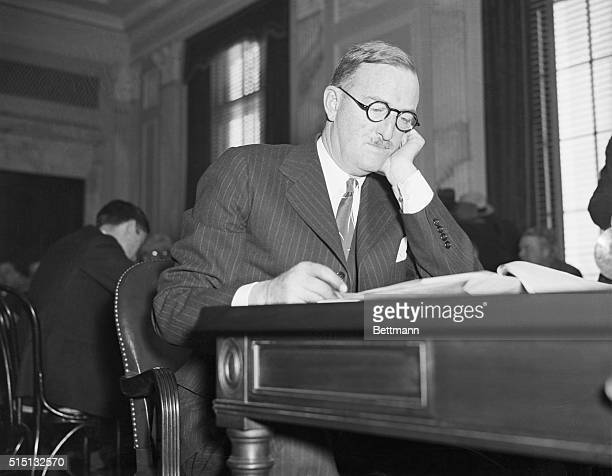 William Boeing testifiying before the Senate Air Mail Committee