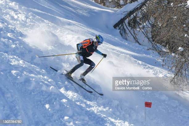 William Boffelli in action during Italian Team Ski Mountaineering Championships on February 14, 2021 in ALBOSAGGIA, Italy.