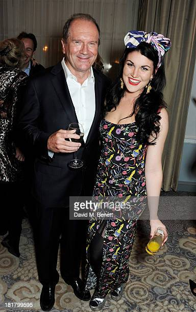 William Boyd and Coco Fennell attend the launch of Solo the new James Bond novel written by William Boyd at The Dorchester on September 25 2013 in...