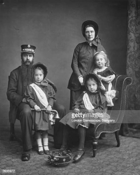 William Bramwell Booth son of the founder of the Salvation Army with his wife and three children William Bramwell Booth succeeded his father as chief...