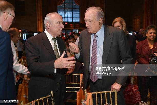 William Bratton and Dixon Boardman attend the ASPCA Hosts 2018 Humane Awards Luncheon at Cipriani 42nd Street on November 15 2018 in New York City