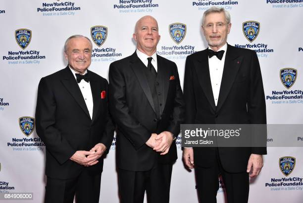 William Bratton James O'Neill and H Dale Hemmerdinger attend New York City Police Foundation 2017 Gala at Sheraton New York on May 18 2017 in New...