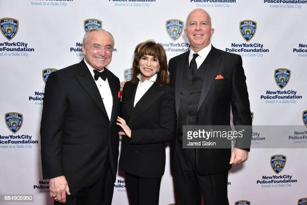 William Bratton Rikki Klieman and Police Commissioner James O'Neill attend New York City Police Foundation 2017 Gala at Sheraton New York on May 18...