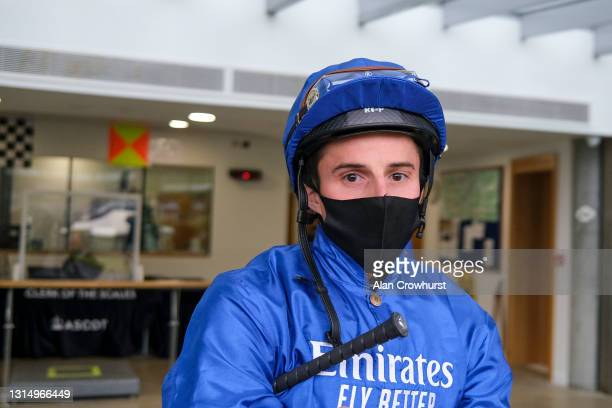 William Buick at Ascot Racecourse on April 28, 2021 in Ascot, England. Sporting venues around the UK remain under restrictions due to the Coronavirus...