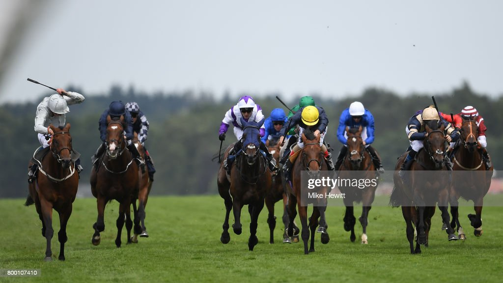 William Buick on Permian (far left) wins the King Edward VII Stakes on Day Four of Royal Ascot at Ascot Racecourse on June 23, 2017 in Ascot, England.