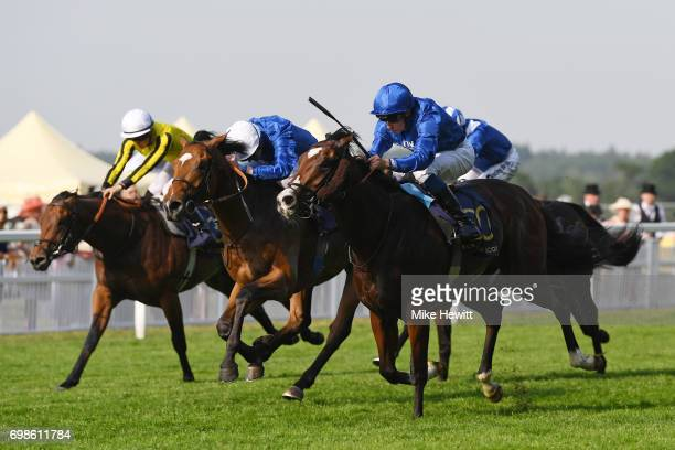 William Buick on Sound and Silence win the Windsor Castle Stakes on the opening day of Royal Ascot at Ascot Racecourse on June 20 2017 in Ascot...
